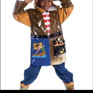 Kidorable Pirate raincoat size 2T